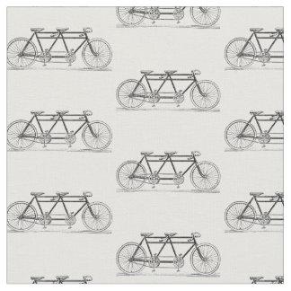 Tissu Bicyclette vintage construite pour deux/vélo