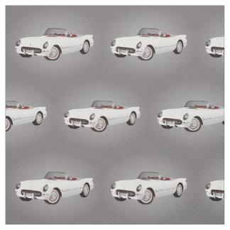 Tissu blanc de Corvette
