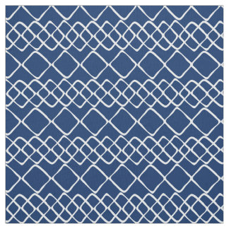 Tissu Blanc sur des tuiles de diamant de bleu marine