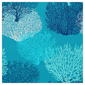 Tissu Bleu de corail d'impression, de turquoise, d'Aqua