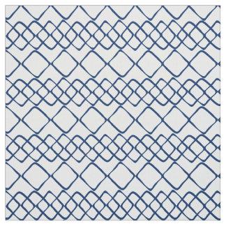 Tissu Bleu marine sur les tuiles blanches de diamant