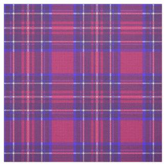 Tissu Bleu rose du cru 9/royal foncé/plaid pourpre/blanc