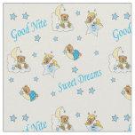 Tissu Bonne nuit nounours