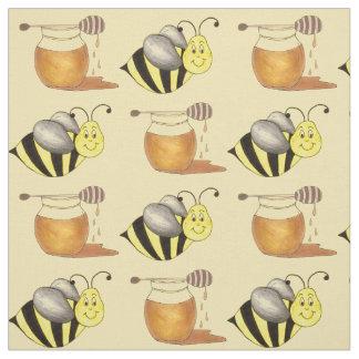 Tissu Bourdon d'abeille d'abeille de pot à miel de pot