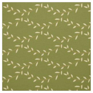 Tissu Branches rustiques sur le vert de mousse