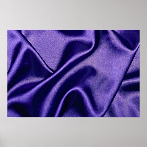 Tissu brillant de satin dans le bleu posters