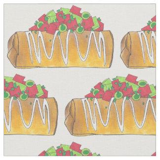 Tissu Burrito frit du sud-ouest Tex Mex de Chimichangas