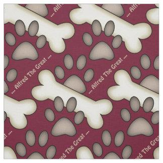 Tissu Canine faite sur commande d'empreintes de pattes