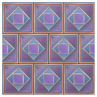 Tissu Carrés par les carrés nichés