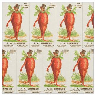 Tissu carte commerciale victorienne d'homme de carotte