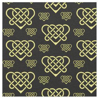 Tissu Celtic/or de coeur de conception tressé par