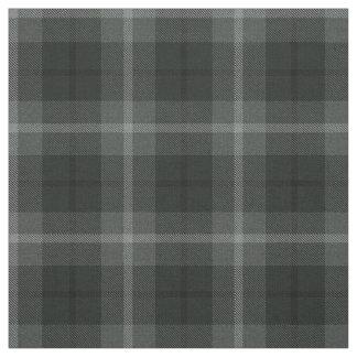 Tissu Charchoal, gris, plaid noir/blanc de gris, de