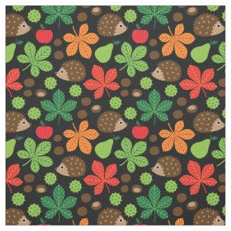 Tissu Châtaignes et motif sans couture de hérisson