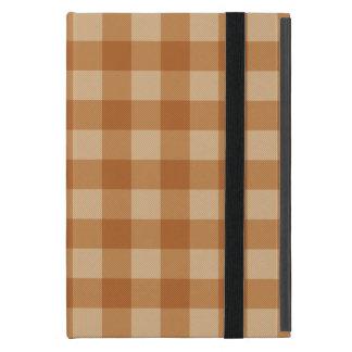 Tissu checkered de plaid brun classique étui iPad mini