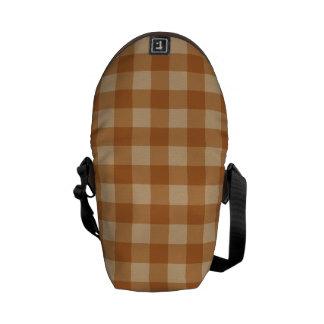 Tissu checkered de plaid brun classique sacoche