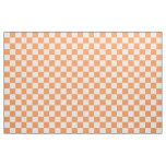 Tissu Checkered orange et blanc