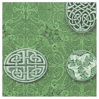 Tissu Chiens, chevaux et oiseaux celtiques