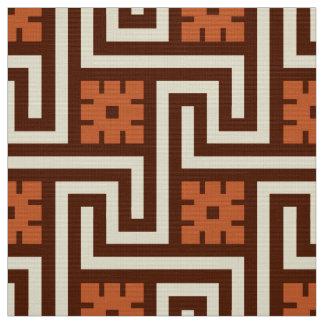 Tissu Clé grecque, Brown, beige et rouille de Deco