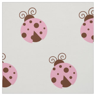 Tissu Coccinelle (Ladybird, Madame scarabée) - Brown