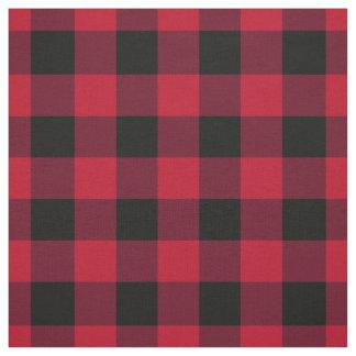 Tissu Contrôle de Buffalo rouge et noir