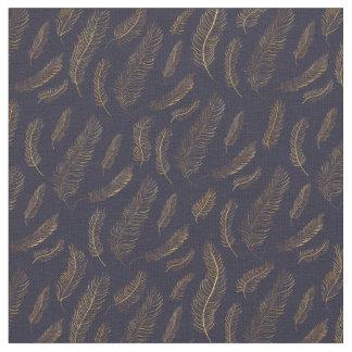 Tissu Copie de plume d'or