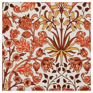 Tissu Copie, orange et rouille de jacinthe de William