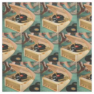 Tissu copie portative de nouveauté de tourne-disque des