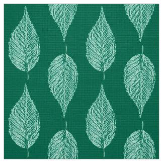 Tissu Copie, turquoise et Aqua de craie de feuille de