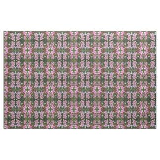 Tissu Coutume géométrique florale de vert de rose de