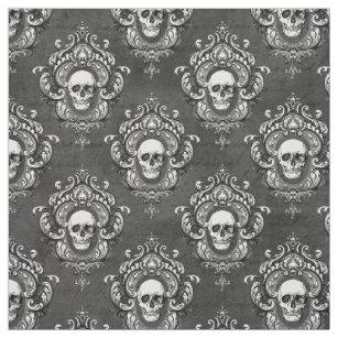 Winged Skull Grunge Gothique Imprimé Tissu Panneau faire COUSSIN Ameublement Artisanat