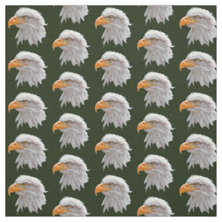 Tissu d'Alaska d'Eagle chauve (vert-foncé)