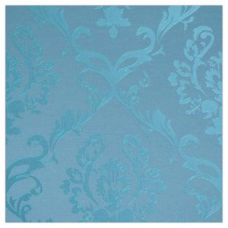 Tissu Damassé fascinante moderne vintage de turquoise