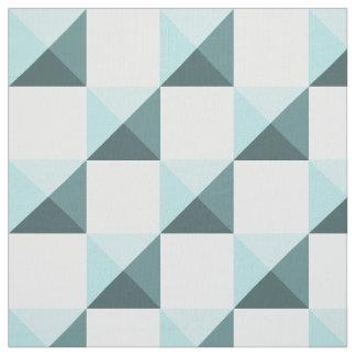 Tissu Damier turquoise d'illusion de Shell de ventouse
