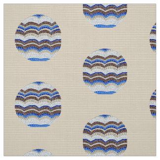Tissu d'armure bleu rond de polyester de mosaïque