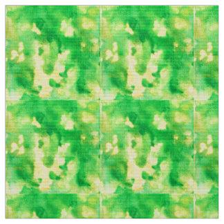 Tissu d'armure de polyester d'aquarelle de vert