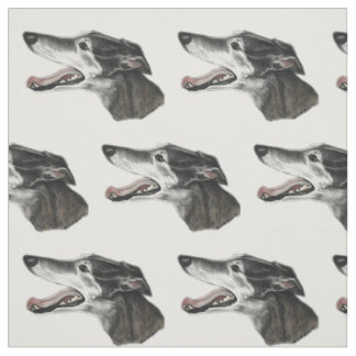 Tissu d'art de chien de profil de lévrier