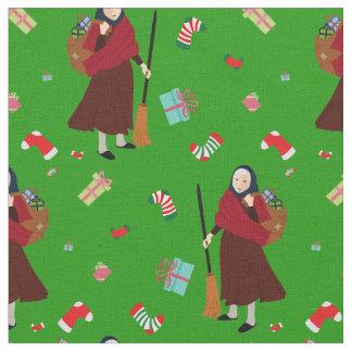 tissu de Befana de sorcière de Noël