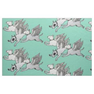 Tissu de bulls-terrier de vol