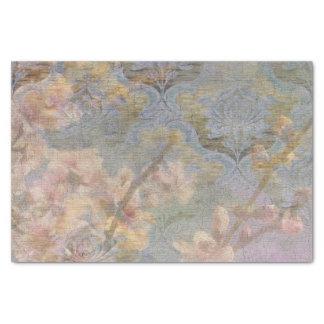 Tissu de cadeau de tapisserie de fleur d'amande papier mousseline