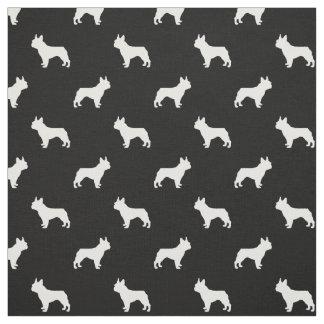 Tissu de chien de silhouette de bouledogue