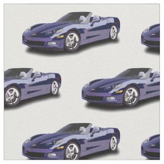 Tissu de convertible de Corvette