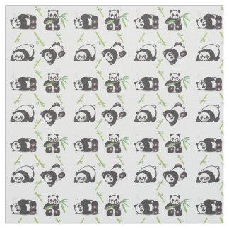 Tissu de coton de Pima de pandas de Kawaii