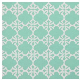 Tissu de coton géométrique vert en bon état