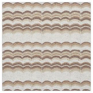 Tissu de coton peigné par mosaïque beige