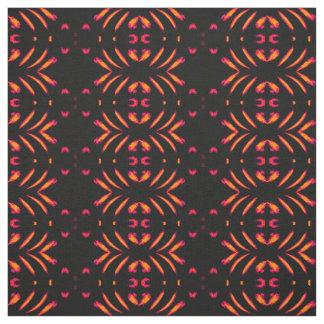 Tissu de coton - rose à la maison/souci/noir de