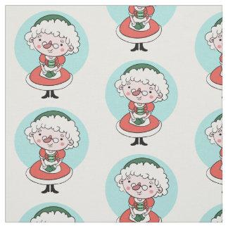 Tissu de coutume de Mme Claus