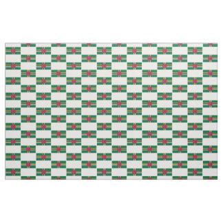 Tissu de drapeau de la Dominique