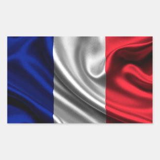 Tissu de drapeau de la France Sticker Rectangulaire