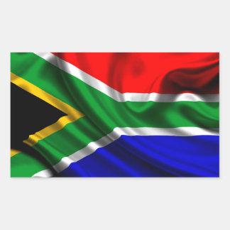Tissu de drapeau de l'Afrique du Sud Sticker Rectangulaire