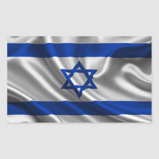 Tissu de drapeau de l'Israël Sticker Rectangulaire